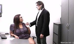 Married boss cheating with fat ebony secretary xVideos