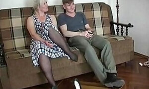 Blond-haired older lady demands a hard pounding