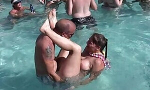 Nudist resort fucking in the swimming pool