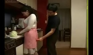 Hot Japanese Asian Mom fucks her Son in Kitchen xVideos