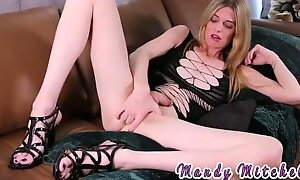 Naughty blonde ts toys and fists her tight ass solo