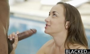 BLACKED Bored Girlfriend Fucks a BBC AnalDin