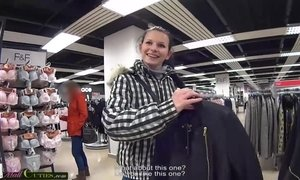 Two girls on public have sex for shopping free AnalDin