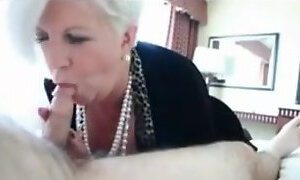 Funny granny awesome blowjob