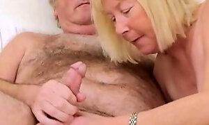 Hairy Grandpa with Wife
