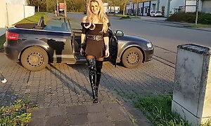 German Girl PVC Overknees