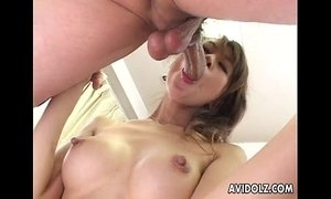 Japanese babe Aki gets fingered close up Uncensored xVideos