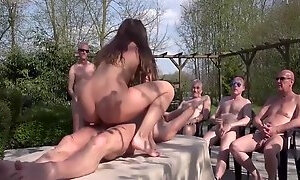 Amazing Gangbang Young Teen Pussy Fucked By Old Men