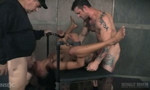 Sassy black bitch Nikki Darling is fucked hard by a duo of hot blooded dudes AnySex