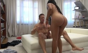 Venezuelan slut Kesha Ortega gives a rimjob and blowjob to Rocco Siffredi