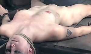 Suspended redhead clit punished with electro. Fucking With Clit, Punishment, Real, Suspended, Redhead Hd