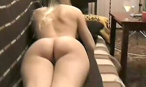 Watch this trashy blonde getting freaky in front of the camera