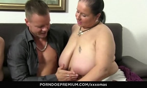 XXX OMAS - Kinky grannies drilled hardcore and cum covered in foursome