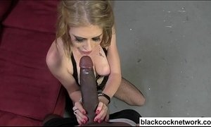 Big tit blonde in fishnets sucking bbc xVideos