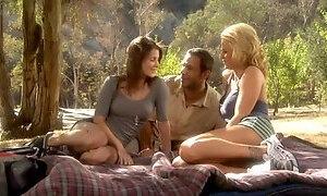 Jenni Lee and Brooke Belle Threesome Picnic