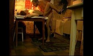 Father-daughter at the table xVideos