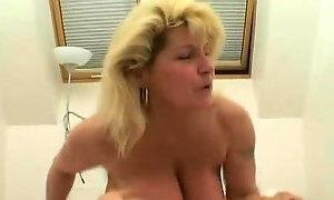 Saggy Tits MILF fucked White Stockings