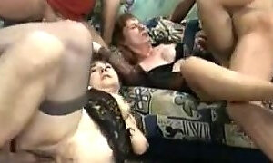 Orgy with some horny grannys