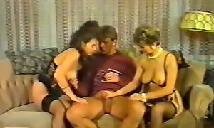 Hungry for cock German MILFs seduce a guy for FFM threesome