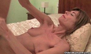 Skinny grannies Bossy Rider and Maria stripping off xVideos