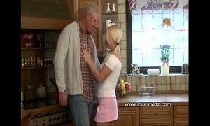 Horny old daddy and blonde daughter xVideos