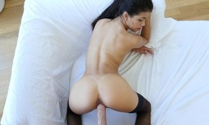 Busty Latina babe bends over perfectly Beeg