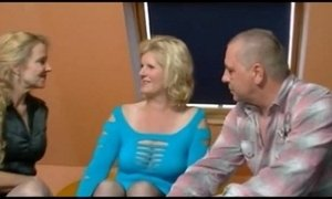 2 older german women and a guy having fun xVideos