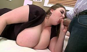 Curvy BBW with Big Tits and Dark hair in hardcore movie with cumshot