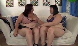 Horny lesbian BBWs Alexxxis Allure and Lady Lynn having fun. xVideos