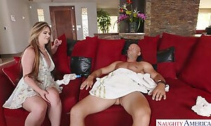 Sexually charged bitch Alice Lighthouse gives BJ and gets her slit fucked