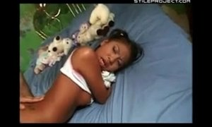 Little Jade Marcela clutches her doll and gets her ass fucked before school xVideos