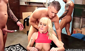Beautiful huge tits blonde anal orgy