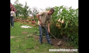 Cock Hungry Mom Fucks Her Young Gardener Outdoors xVideos