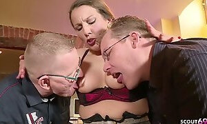GERMAN BIG TIT housewife SEDUCE HAVE INTERCOURSE ASSFUCKING IN BIG MALE STICK TRIO