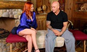 Redhead's dirty massage Beeg