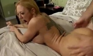 Son Blackmails Mom for Anal xVideos