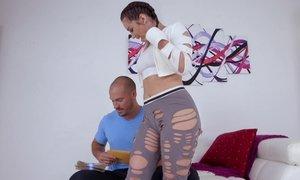 Brunette stripper boned Beeg