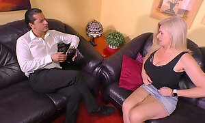 Mature harlot with big saggy tits Maria Montana Gets her muff slammed
