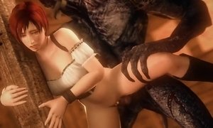 Redhead Asks Two Wolves To Have Her Face With Their Cum.