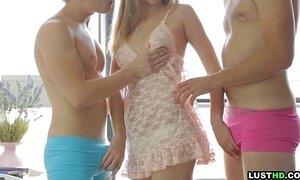 LustHD Horny teen dreams of having threesome sex xVideos