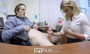 SpyFam Step son office anal fuck with step mom Cory Chase at work xVideos
