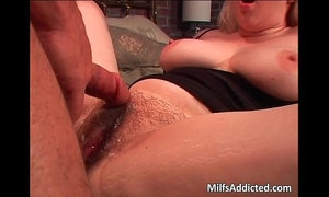 Blonde hairy bitch riding dick on the xVideos
