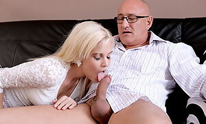 DADDY4K. Bad dad with a tiny gf of his son
