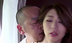 Skinny girl from Japanese vilage makes love to bang with pervert daddy