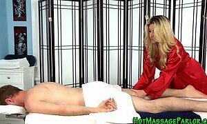Masturbating masseuse