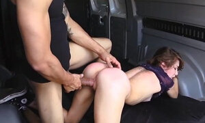 Helpless Faye ends up in the van