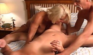 Granny has a TEEN ORGY