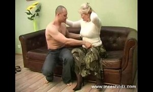 blonde mom and her young guy on sofa xVideos