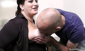Office sex with boss and busty secretary xVideos