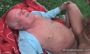 Pretty babe fucked by old guy xVideos